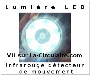 Lumière LED s'active par la détection de mouvement infrarouge