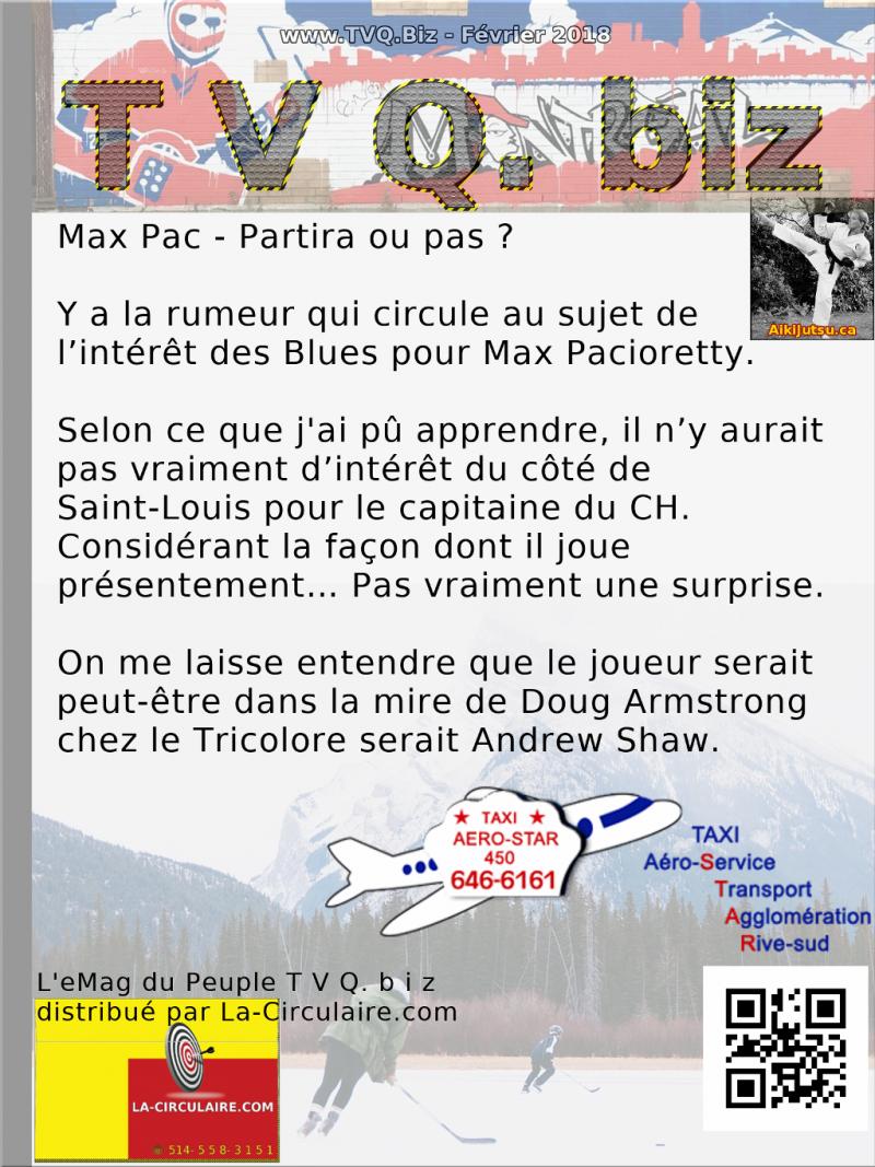 Max Pacioretty - Partira ou pas ?
