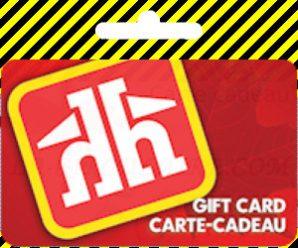 Pour récompense , Carte-cadeau en ligne Home Hardware Online (livraison électronique)